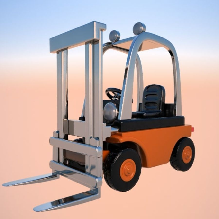 Forklift (vray) 2 royalty-free 3d model - Preview no. 3