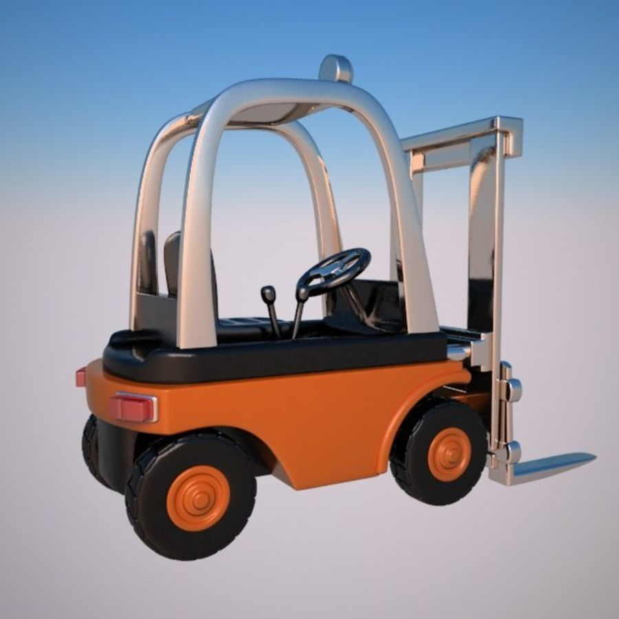 Forklift (vray) 2 royalty-free 3d model - Preview no. 8