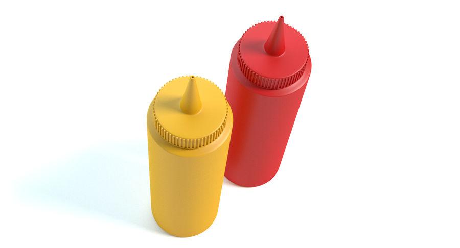 Mustard and Ketchup royalty-free 3d model - Preview no. 4
