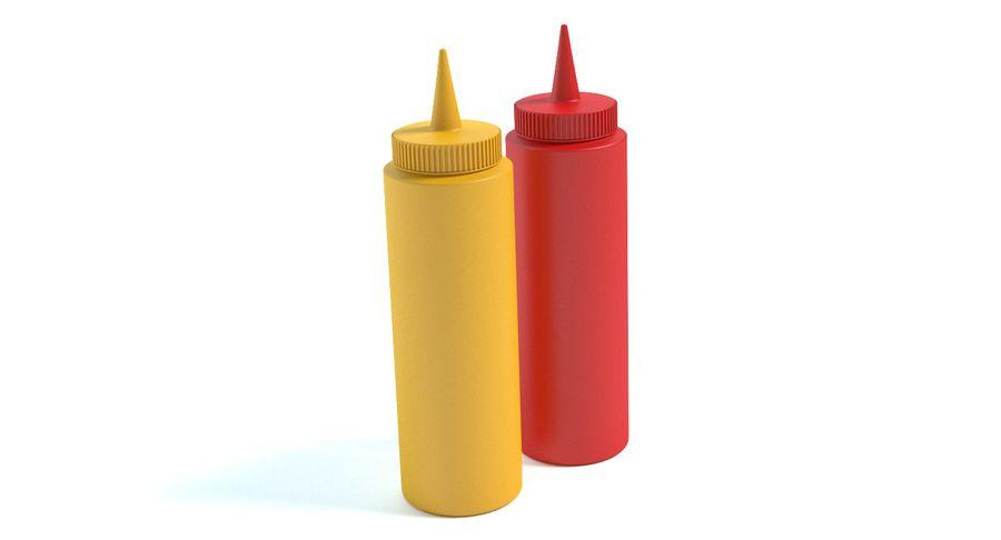 Mustard and Ketchup royalty-free 3d model - Preview no. 3