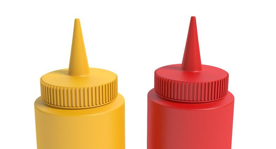 Mustard and Ketchup royalty-free 3d model - Preview no. 5