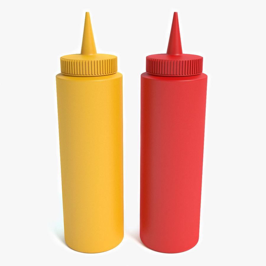 Mustard and Ketchup royalty-free 3d model - Preview no. 1
