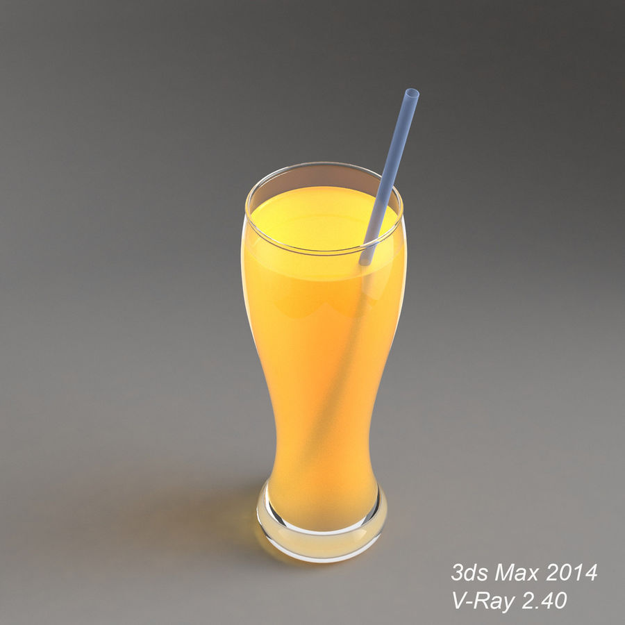 Juice Glass royalty-free 3d model - Preview no. 3