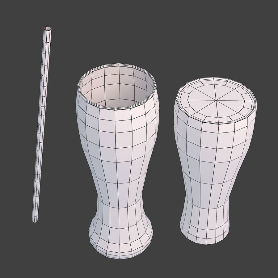 Juice Glass royalty-free 3d model - Preview no. 8