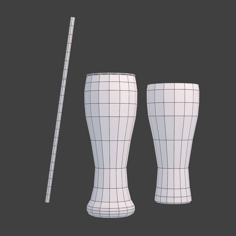 Juice Glass royalty-free 3d model - Preview no. 7