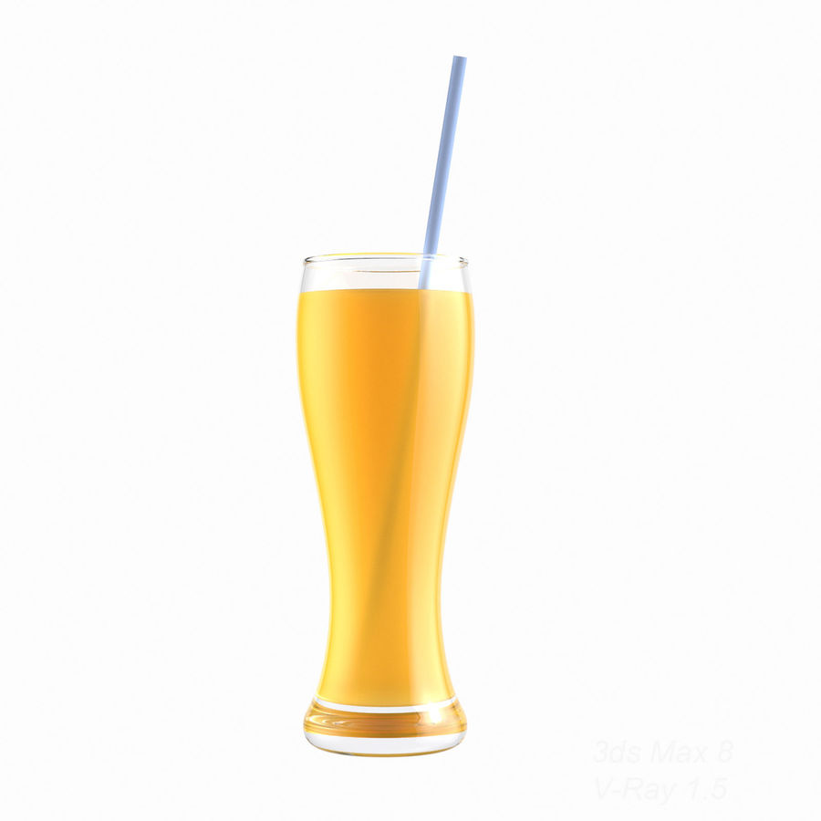 Juice Glass royalty-free 3d model - Preview no. 5