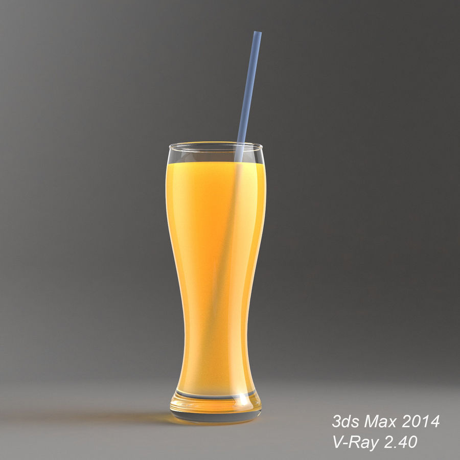 Juice Glass royalty-free 3d model - Preview no. 2