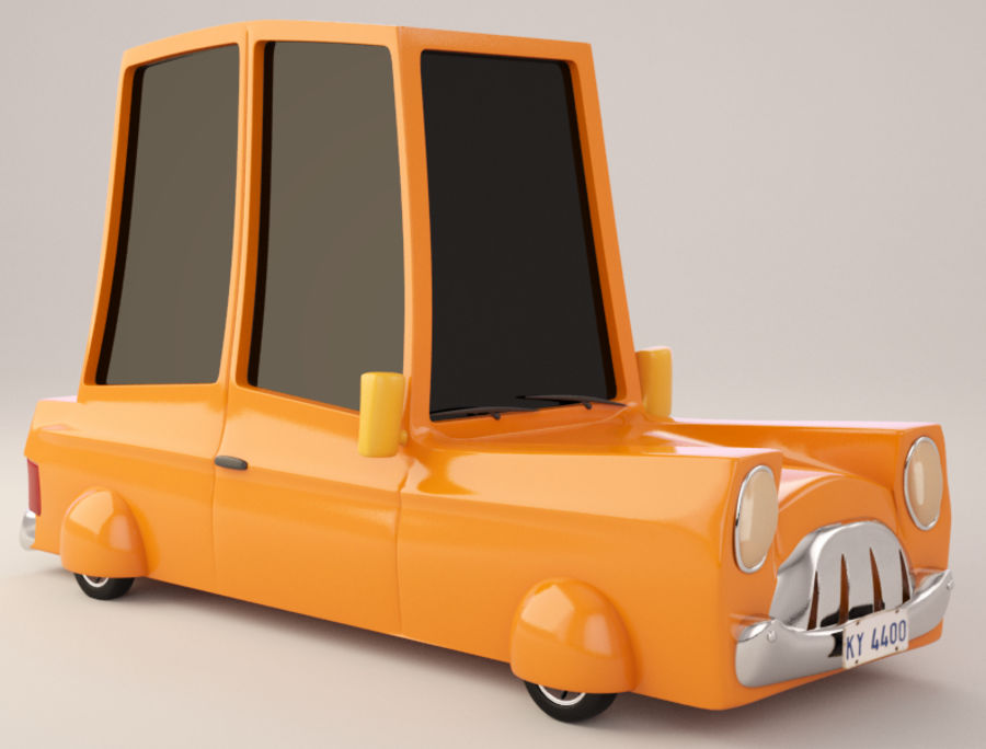 Cartoon Car royalty-free 3d model - Preview no. 1