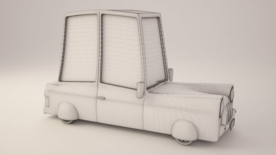 Cartoon Car royalty-free 3d model - Preview no. 5