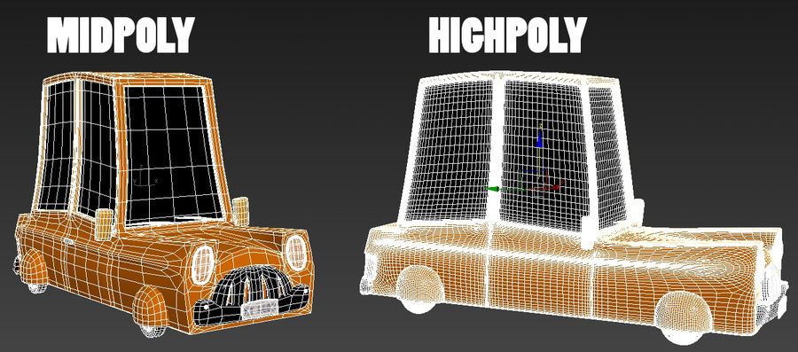 漫画車 royalty-free 3d model - Preview no. 6