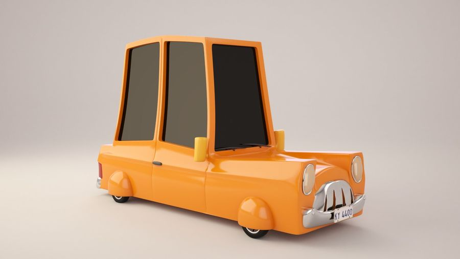 Cartoon Car royalty-free 3d model - Preview no. 4
