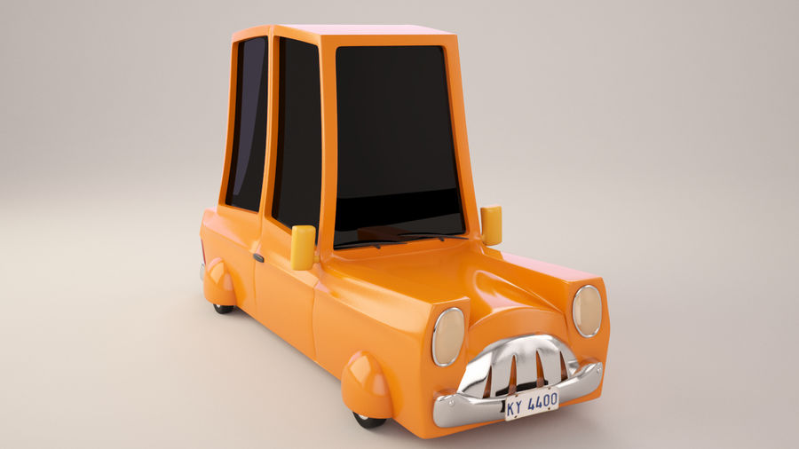 Cartoon Car royalty-free 3d model - Preview no. 3