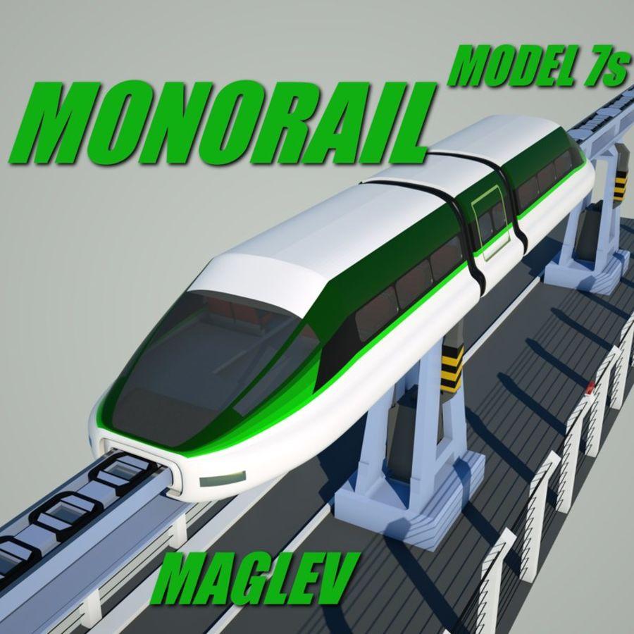 Монорельс Модель 7с royalty-free 3d model - Preview no. 1