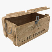 wooden military box 3d model
