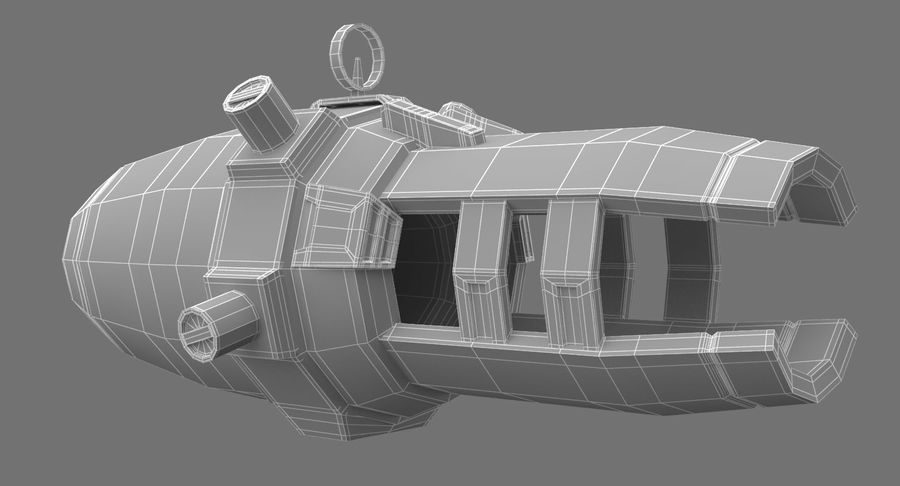 Sci-Fi Weapon royalty-free 3d model - Preview no. 11