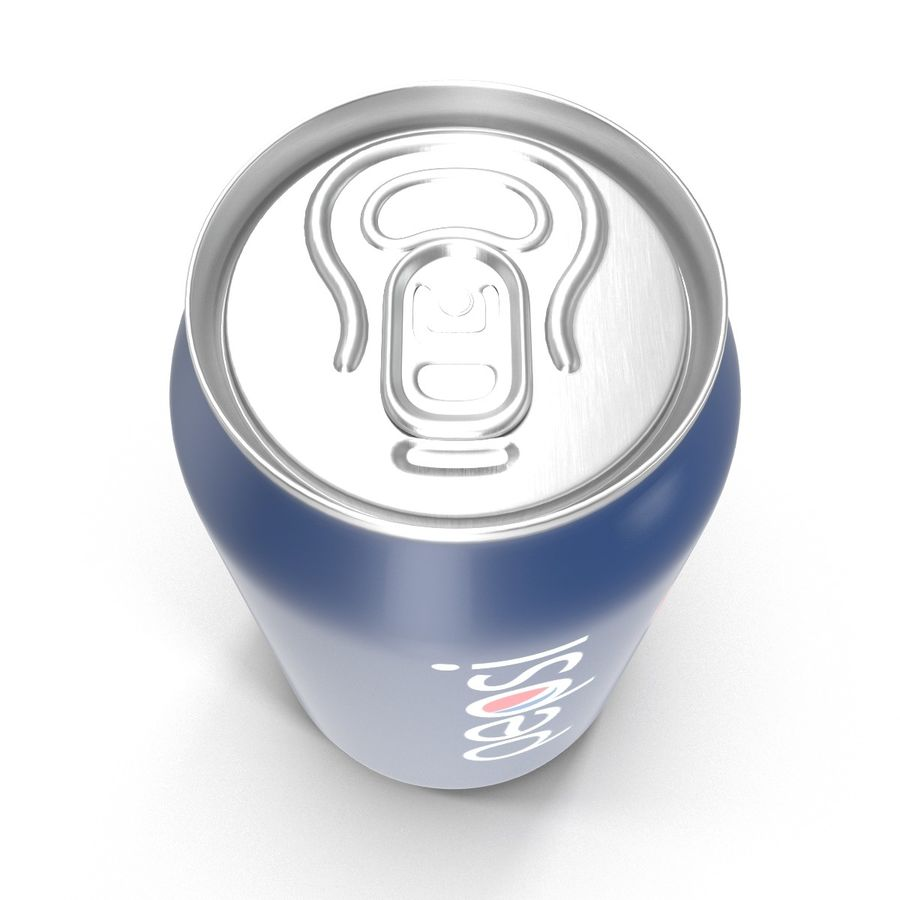 Aluminum Can 0.33L Pepsi royalty-free 3d model - Preview no. 9