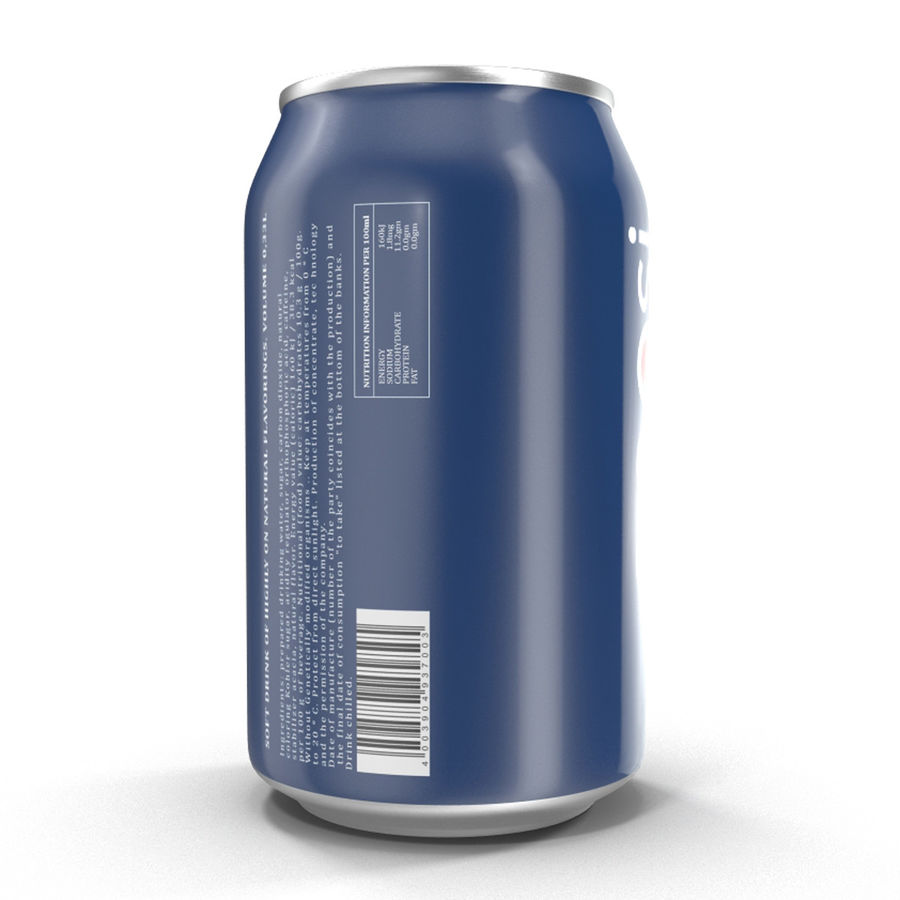 Aluminum Can 0.33L Pepsi royalty-free 3d model - Preview no. 8