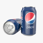 Aluminum Can 0.33L Pepsi 3d model