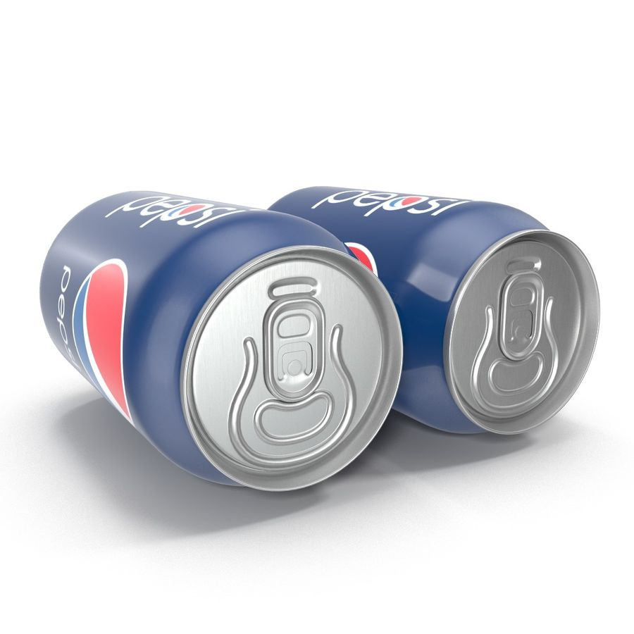 Aluminum Can 0.33L Pepsi royalty-free 3d model - Preview no. 5