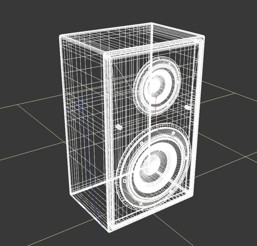 speaker royalty-free 3d model - Preview no. 4