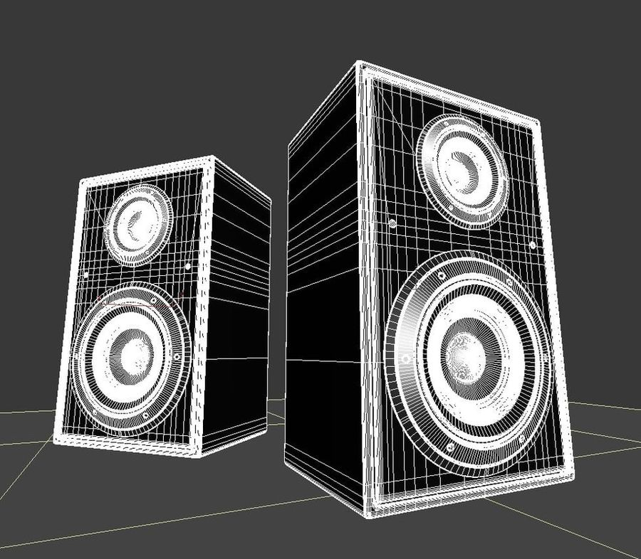 speaker royalty-free 3d model - Preview no. 6