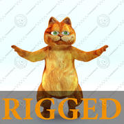 - Cartoon cat - RIGGED 3d model