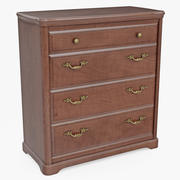 Furniture Classic Wooden Commode 3d model