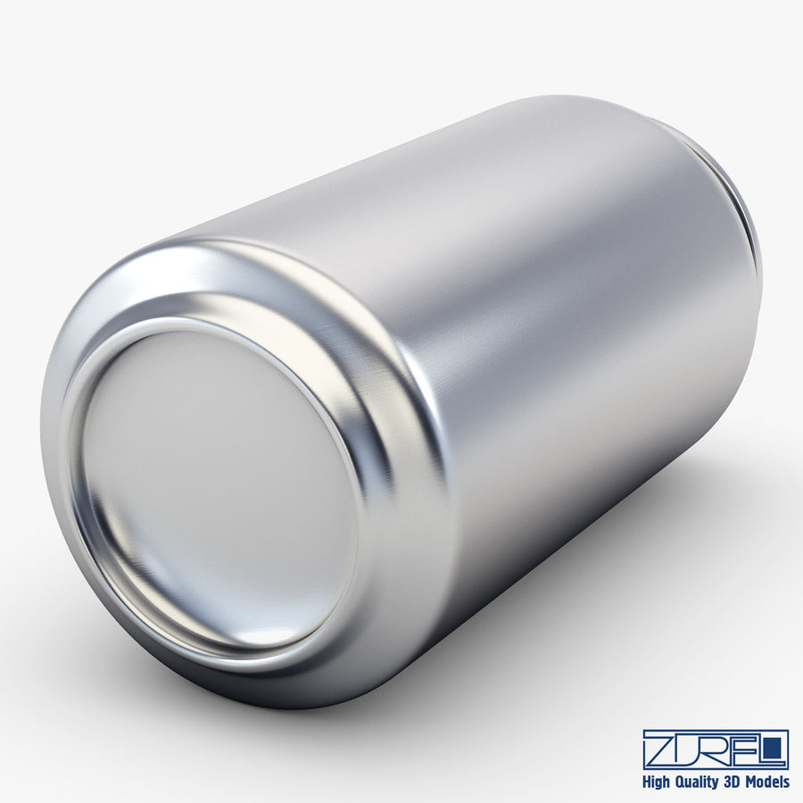 Aluminum soda can v 1 royalty-free 3d model - Preview no. 6