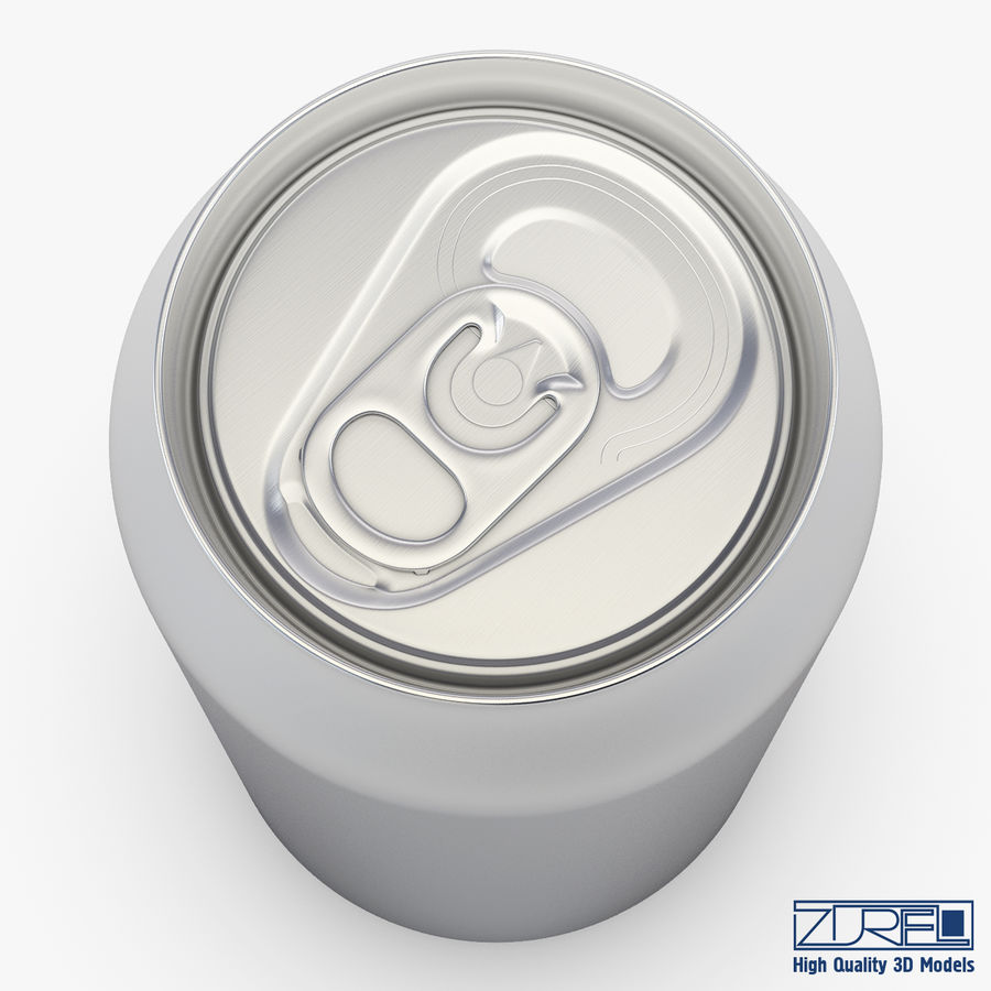 Aluminum soda can v 1 royalty-free 3d model - Preview no. 4