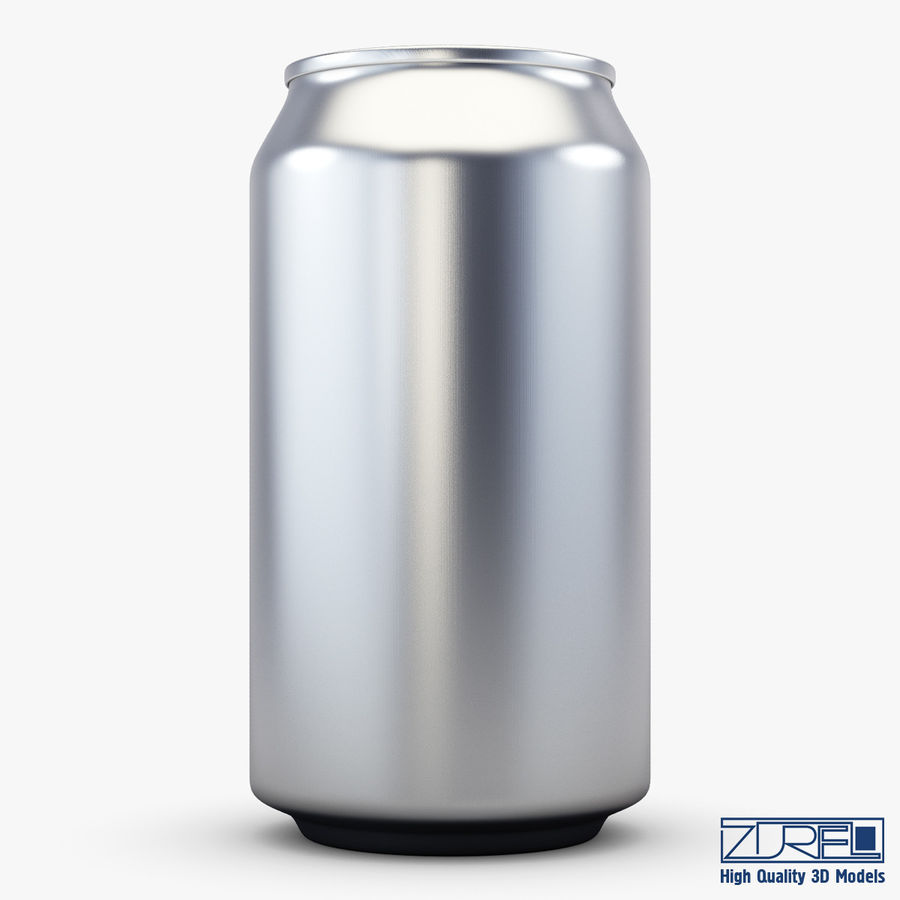 Aluminum soda can v 1 royalty-free 3d model - Preview no. 3