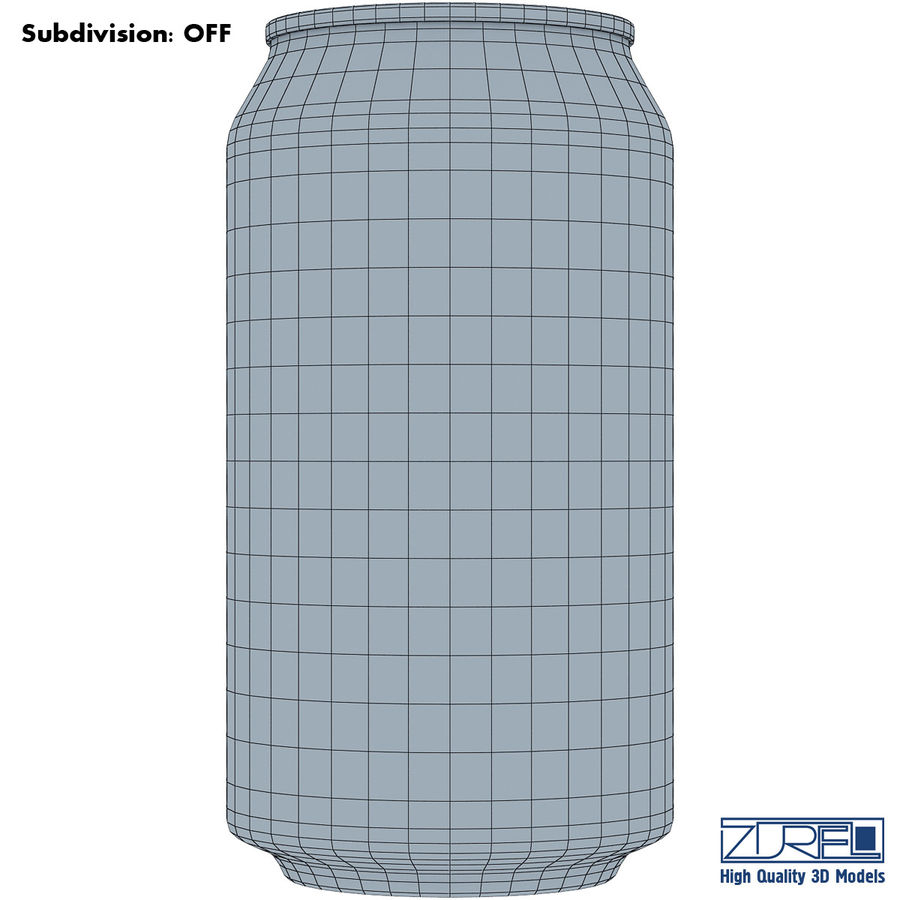 Aluminum soda can v 1 royalty-free 3d model - Preview no. 10
