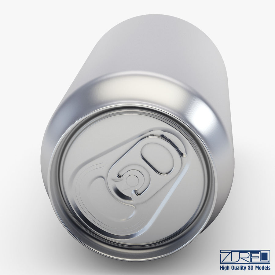 Aluminum soda can v 1 royalty-free 3d model - Preview no. 7