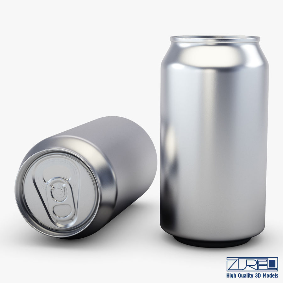 Lata de soda de aluminio v 1 royalty-free modelo 3d - Preview no. 8