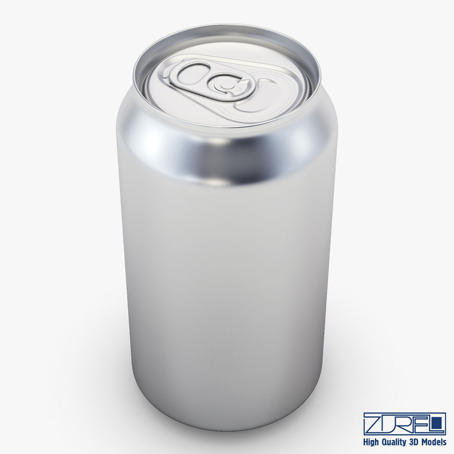 Aluminum soda can v 1 royalty-free 3d model - Preview no. 1