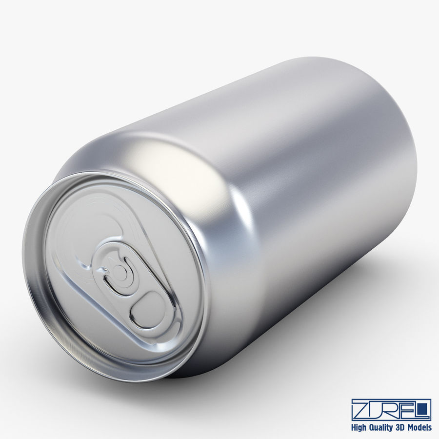 Aluminum soda can v 1 royalty-free 3d model - Preview no. 5