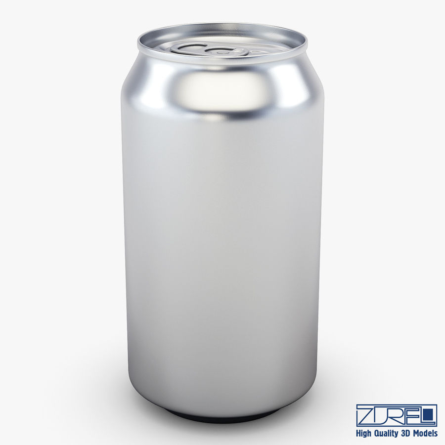 Lata de soda de aluminio v 1 royalty-free modelo 3d - Preview no. 2