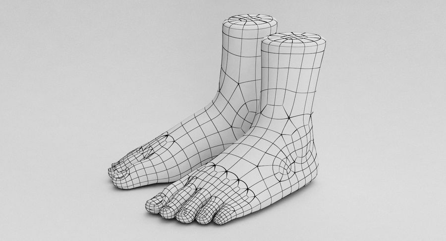 Realistic Foot royalty-free 3d model - Preview no. 26
