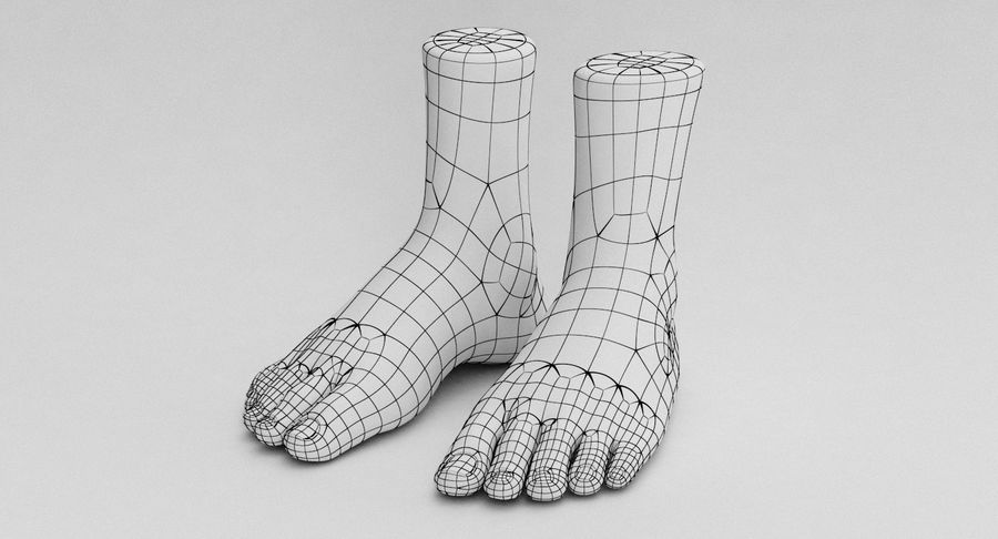 Realistic Foot royalty-free 3d model - Preview no. 27