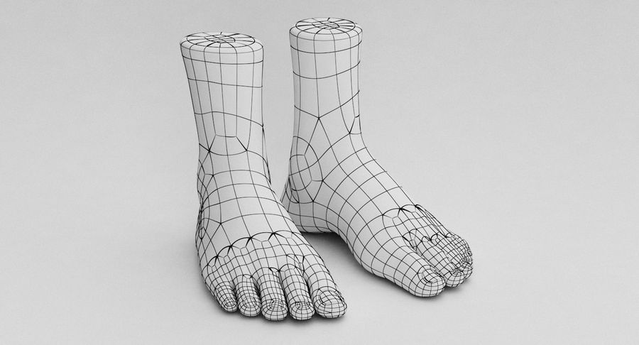 Realistic Foot royalty-free 3d model - Preview no. 17