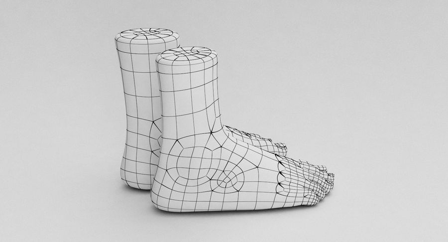 Realistic Foot royalty-free 3d model - Preview no. 20