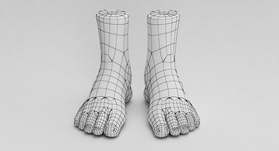 Realistic Foot royalty-free 3d model - Preview no. 16