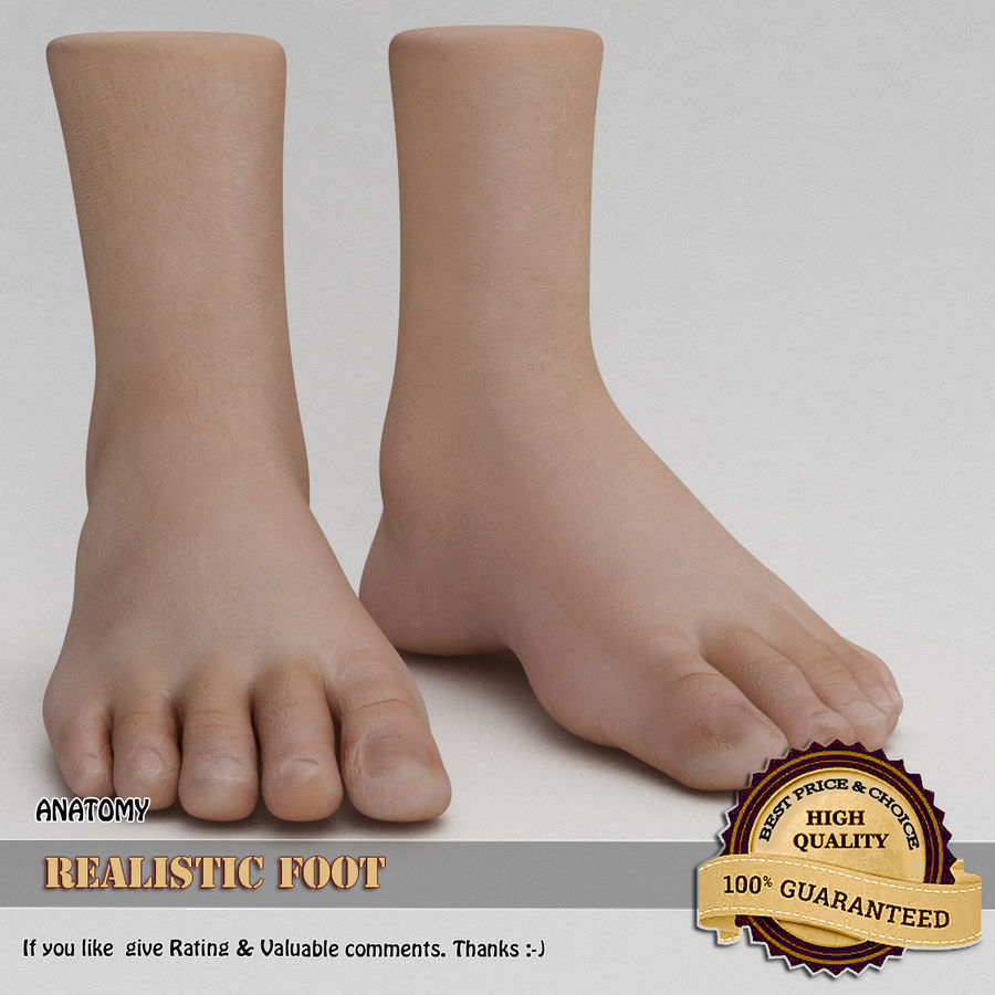 Realistic Foot royalty-free 3d model - Preview no. 1
