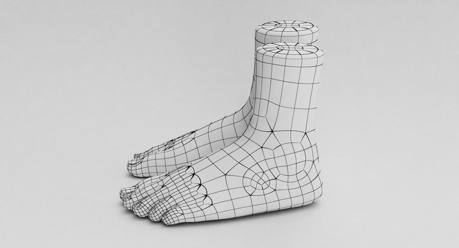 Realistic Foot royalty-free 3d model - Preview no. 25