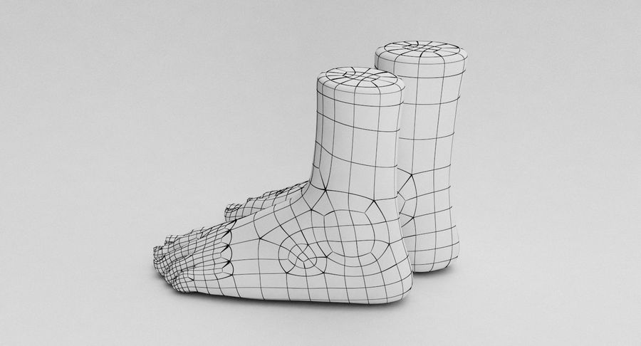 Realistic Foot royalty-free 3d model - Preview no. 24