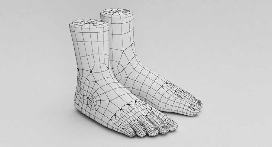 Realistic Foot royalty-free 3d model - Preview no. 18