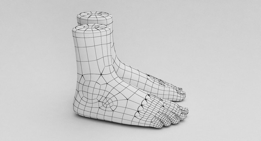 Realistic Foot royalty-free 3d model - Preview no. 19