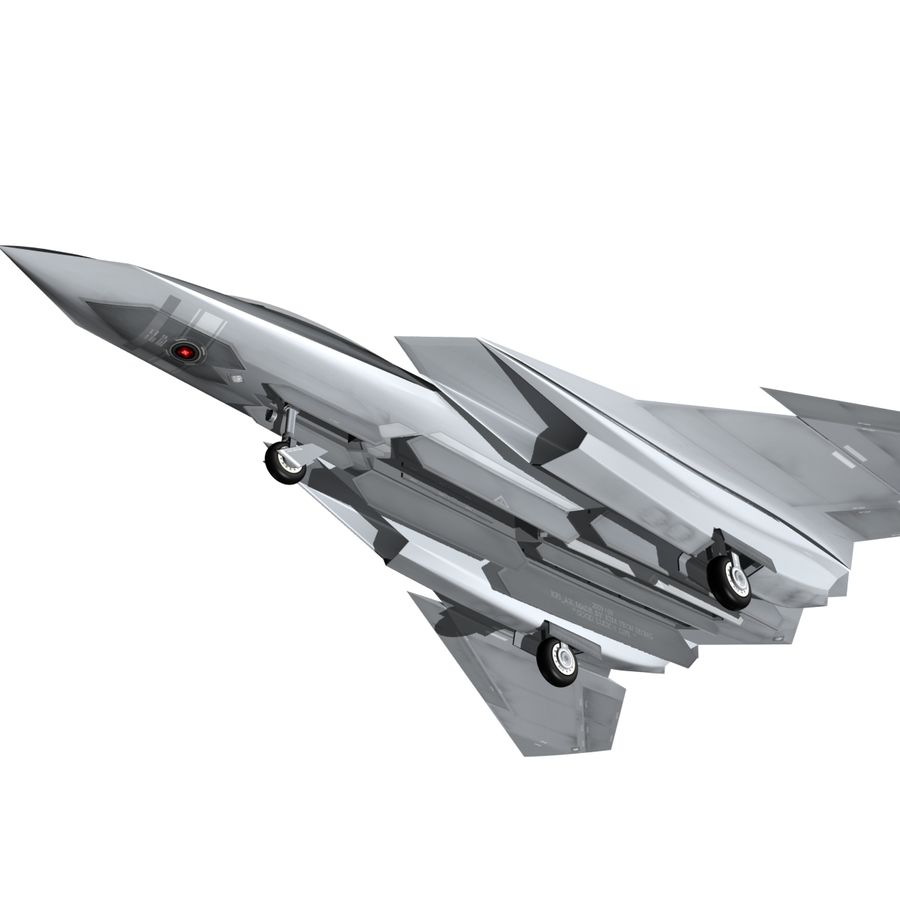 Concept Fighter (KF1-AX) royalty-free 3d model - Preview no. 8