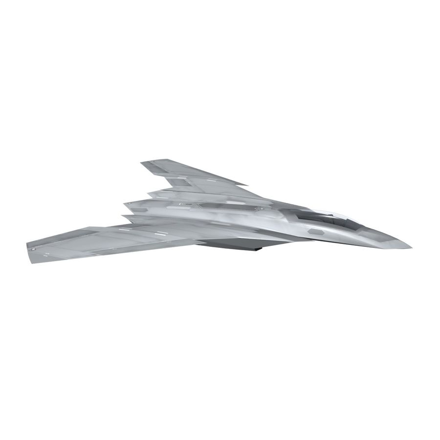 Concept Fighter (KF1-AX) royalty-free 3d model - Preview no. 11