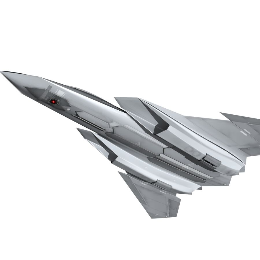 Concept Fighter (KF1-AX) royalty-free 3d model - Preview no. 7
