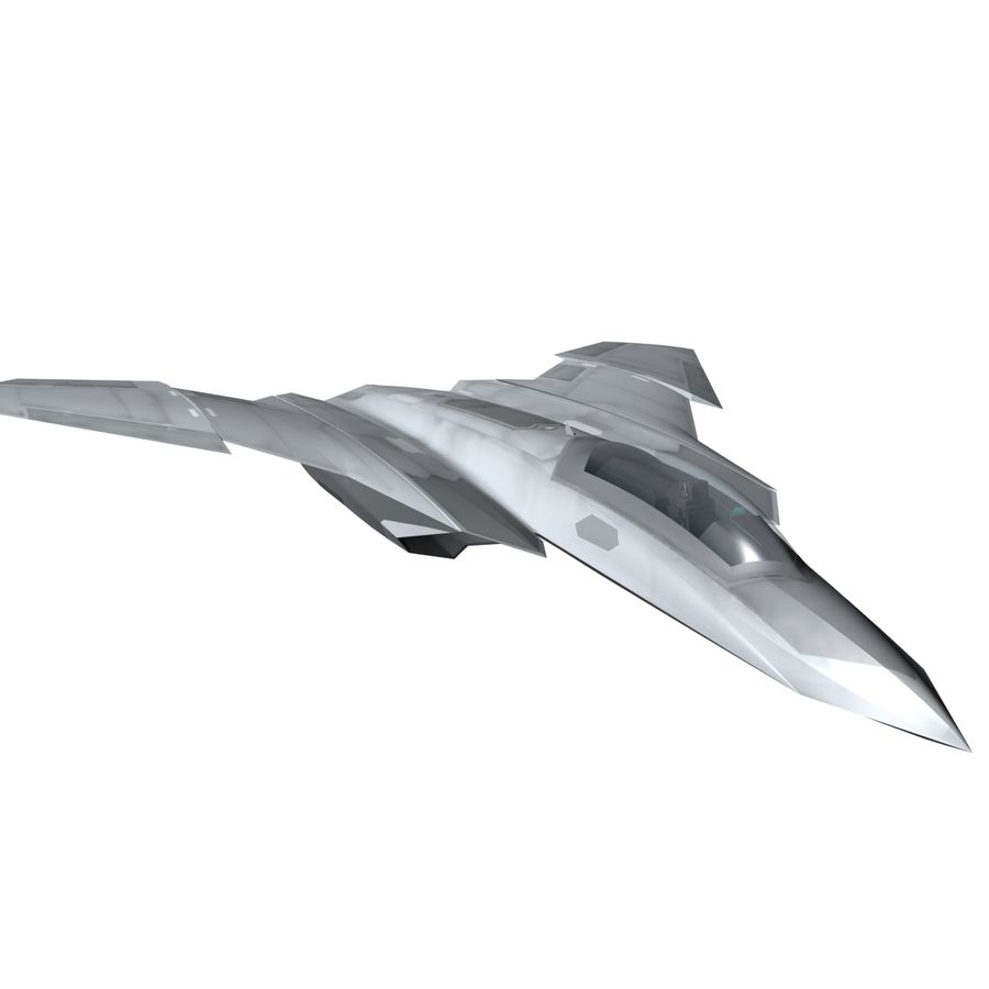Concept Fighter (KF1-AX) royalty-free 3d model - Preview no. 1